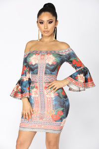 Tulum Tropical Dress - Multi
