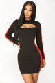 Davis Color Block Dress - Black/Red