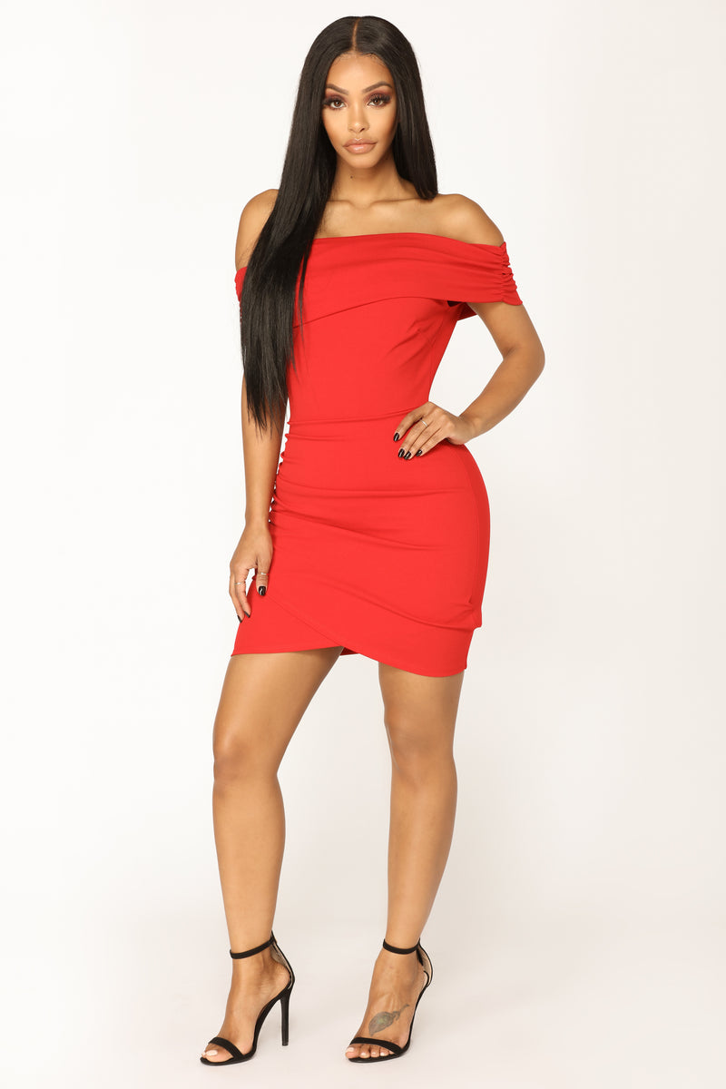 Off Topic Mini Dress - Red