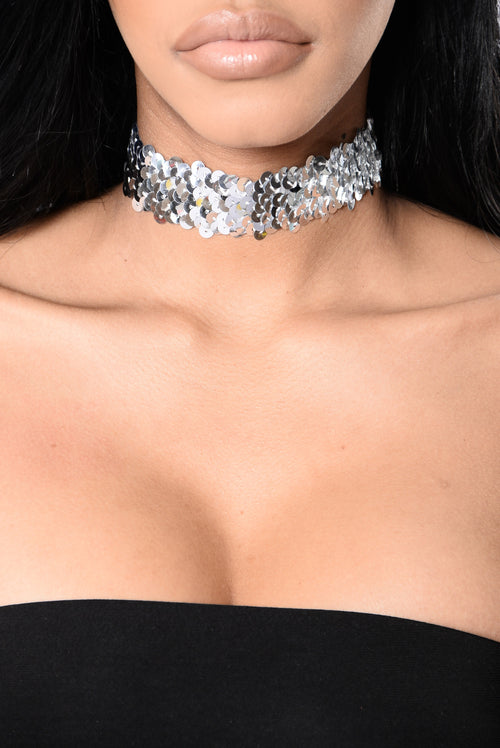 Care For You Choker - Silver