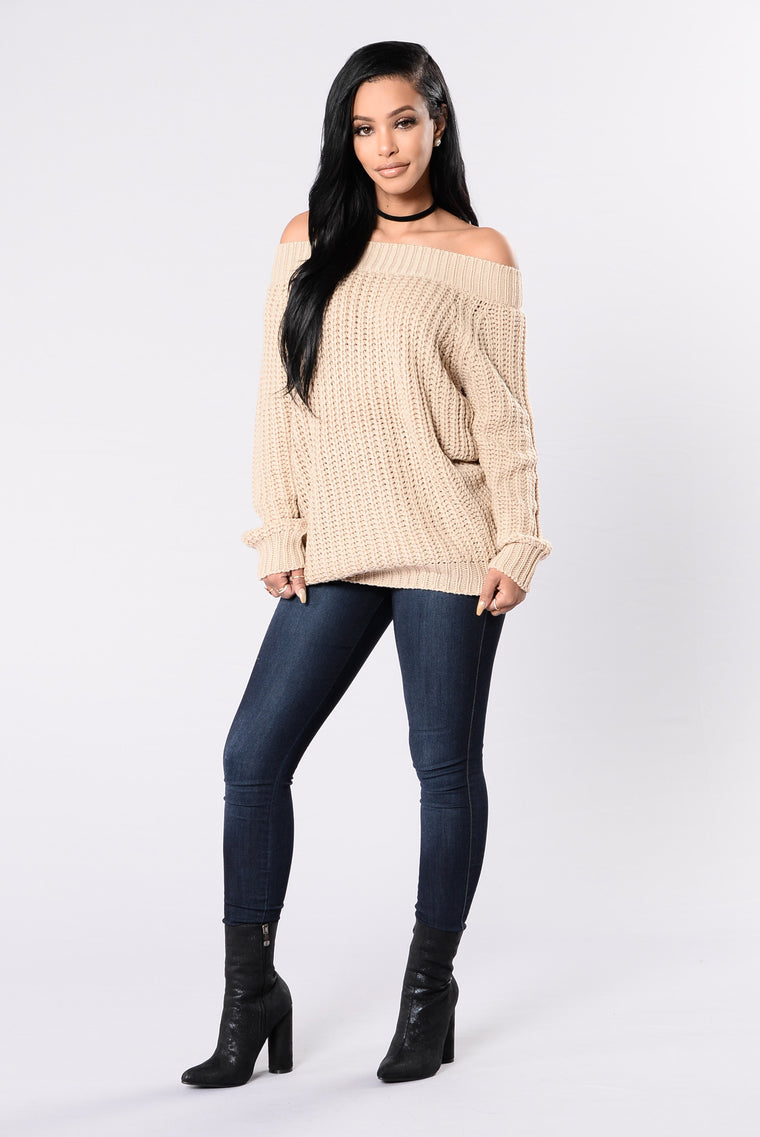 I'll Never Let Go Sweater - Taupe