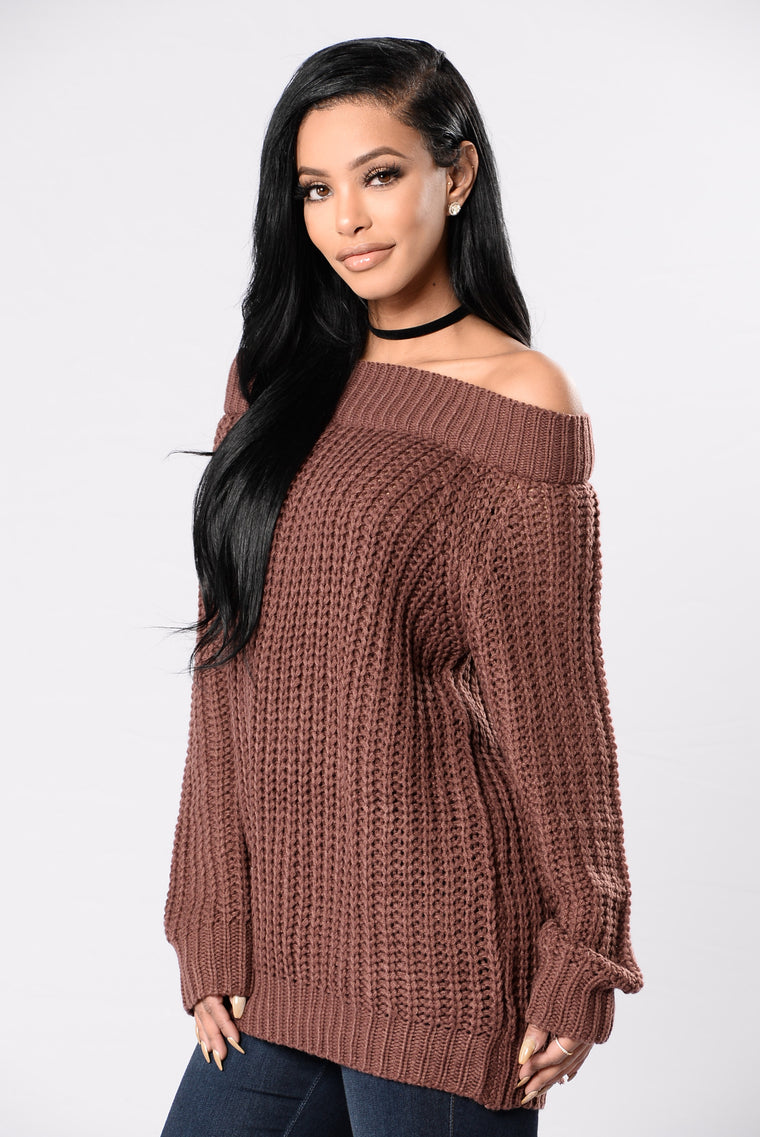 I'll Never Let Go Sweater - Red Brown