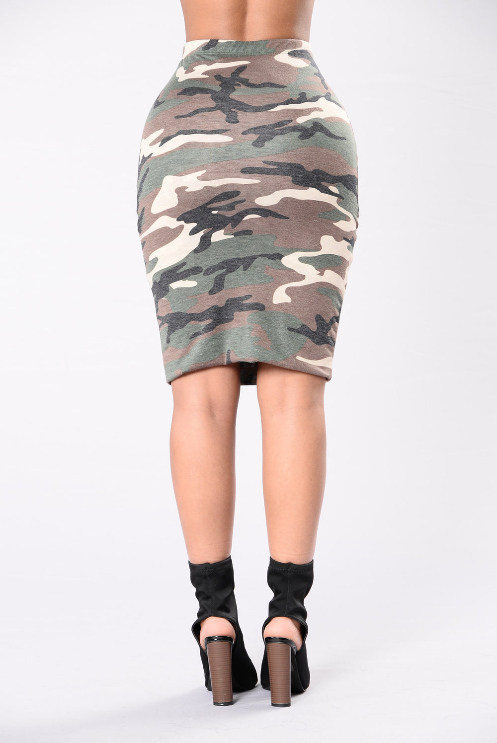 Wish I Was Yours Skirt - Olive/Brown/Taupe