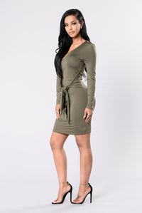 Love Me Knot Dress - Dusty Olive