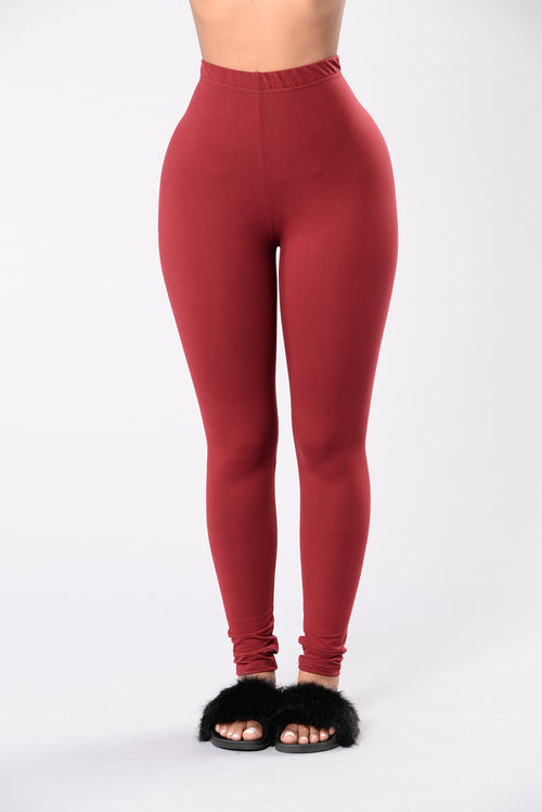 Almost Every Day Leggings - Burgundy