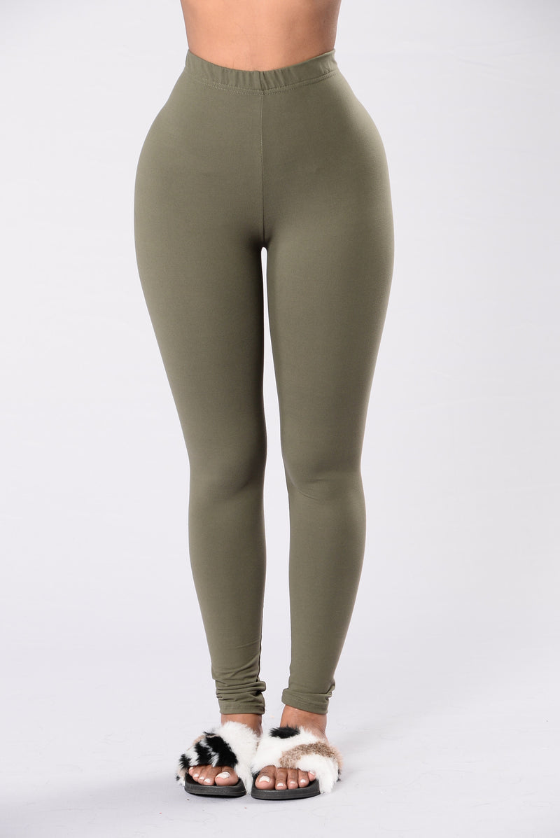 Almost Every Day Leggings - Olive
