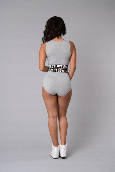 Make Love Shorts - Heather Grey