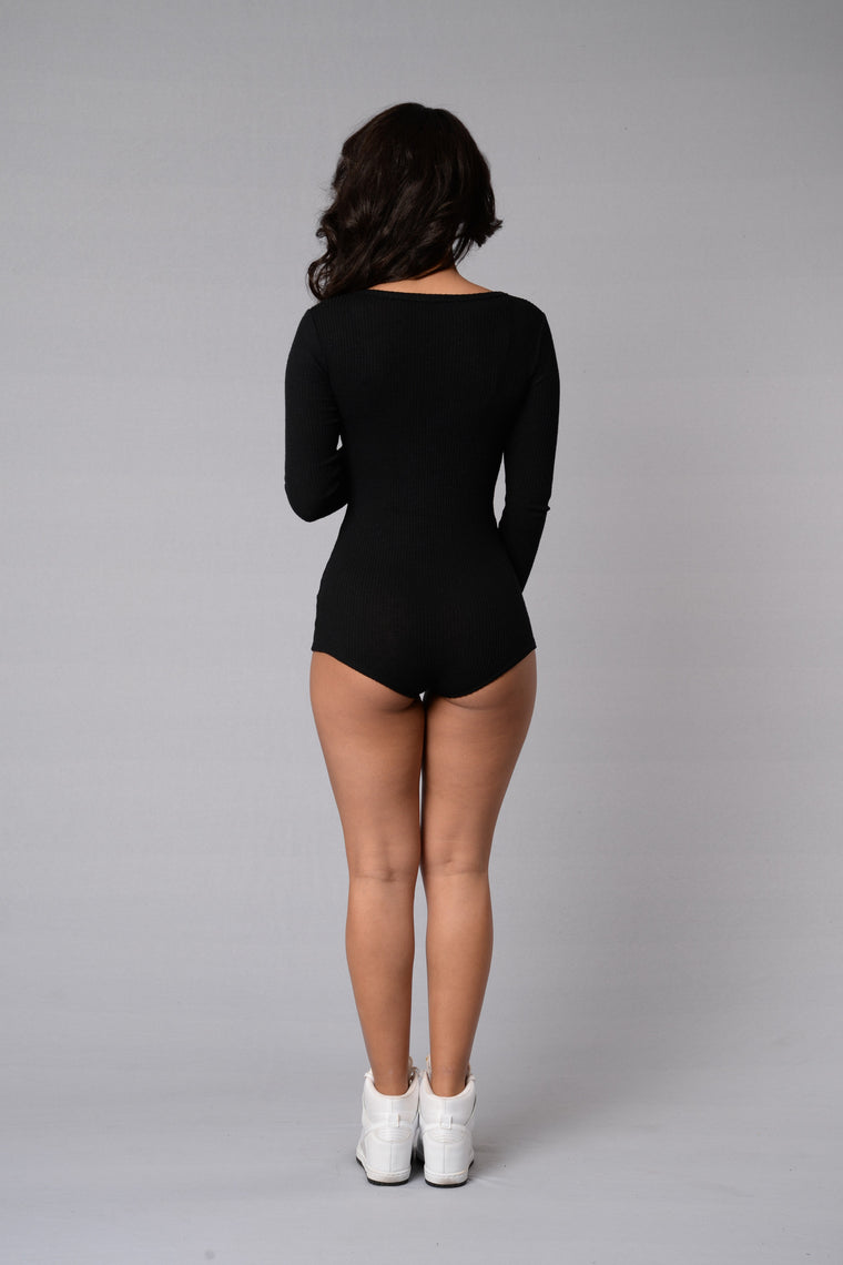 Up all Night Romper - Black