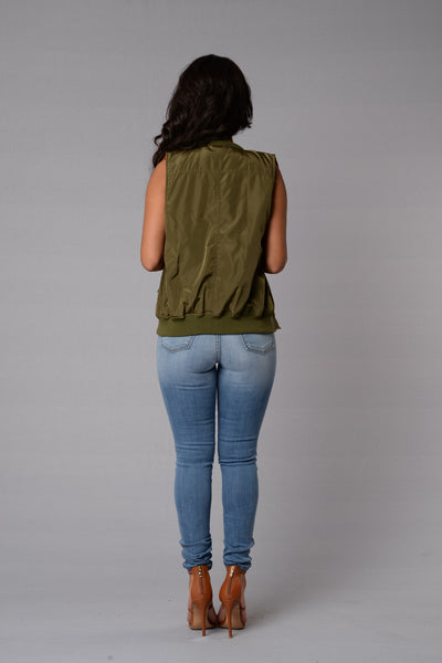 Biggie Smalls Vest - Olive
