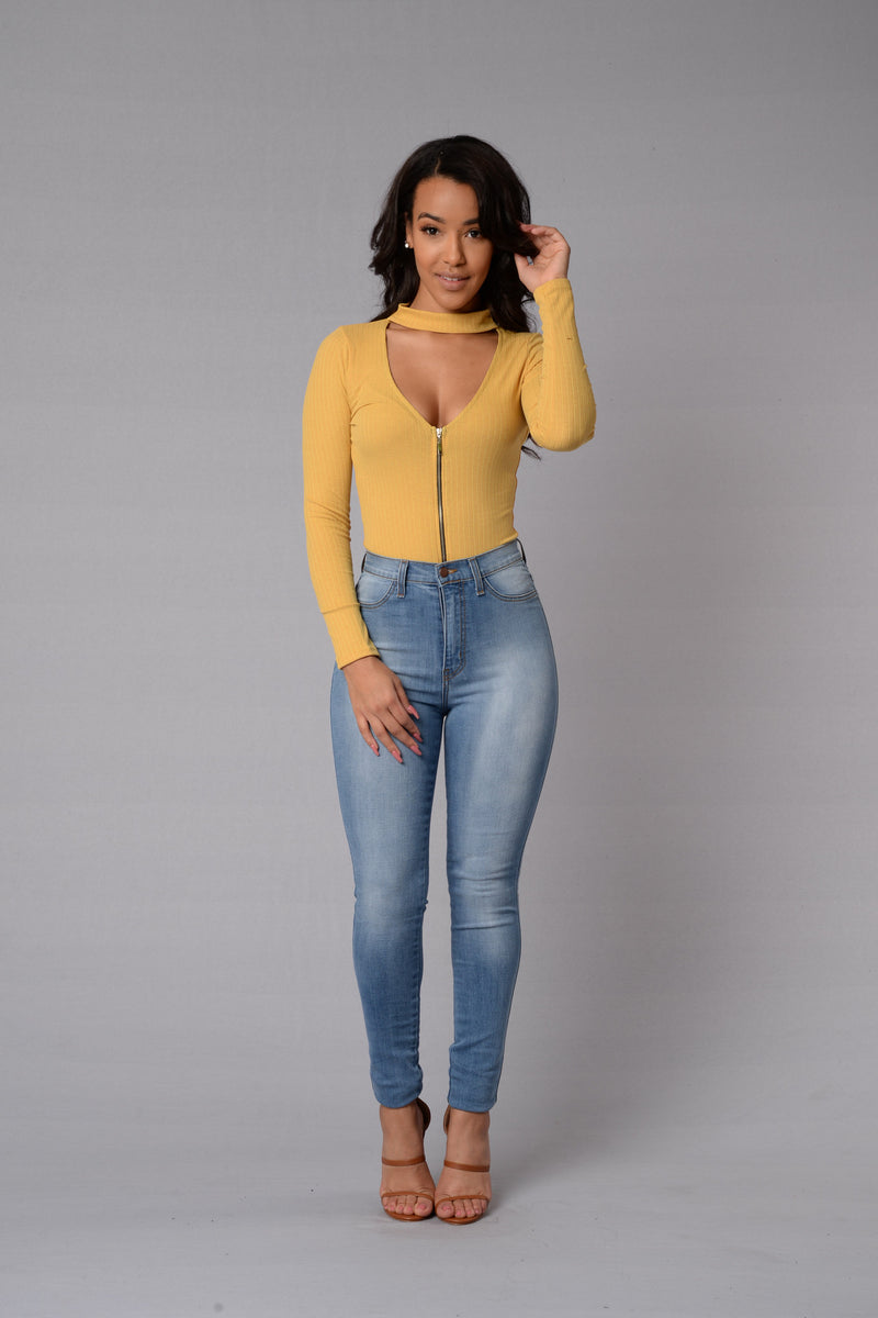 Addicted Bodysuit - Mustard