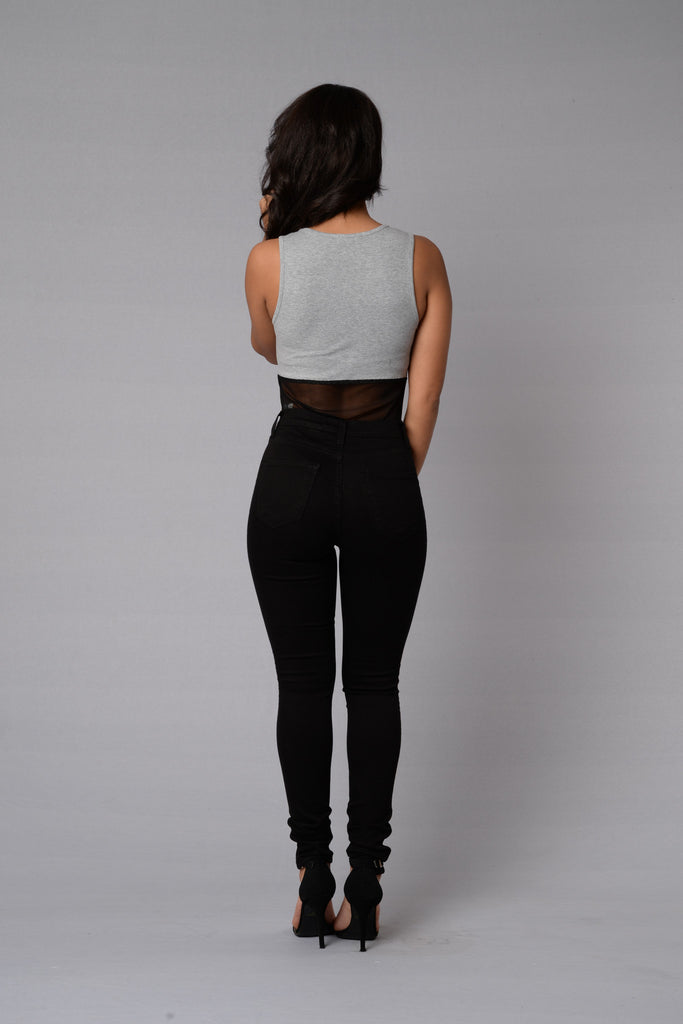 MVP Bodysuit - Heather Grey/Black