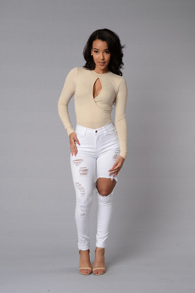 New Star Bodysuit - Cream