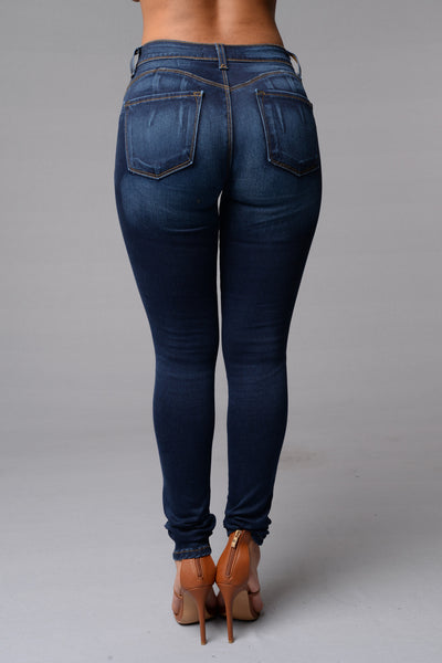 Caution, Curves Ahead Jeans - Dark
