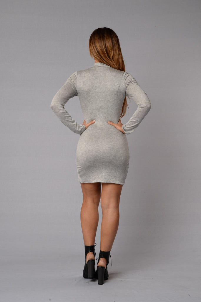 90210 Dress - Heather Grey