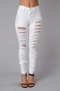Rip Me Open Jeans - White