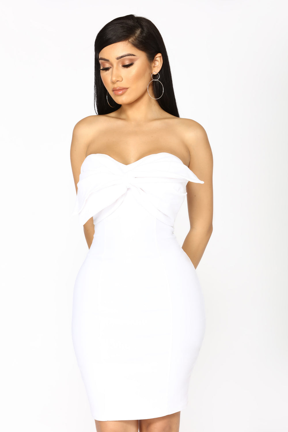 Bow And Arrow Dress - White