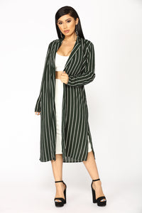 Straight Forward Duster Jacket - Hunter