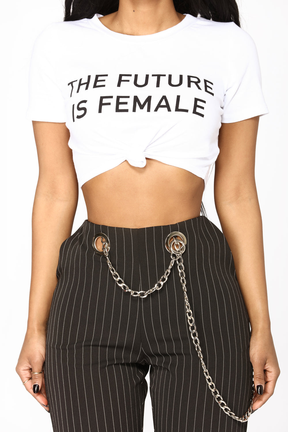 Yes The Future Is Female Tee - White