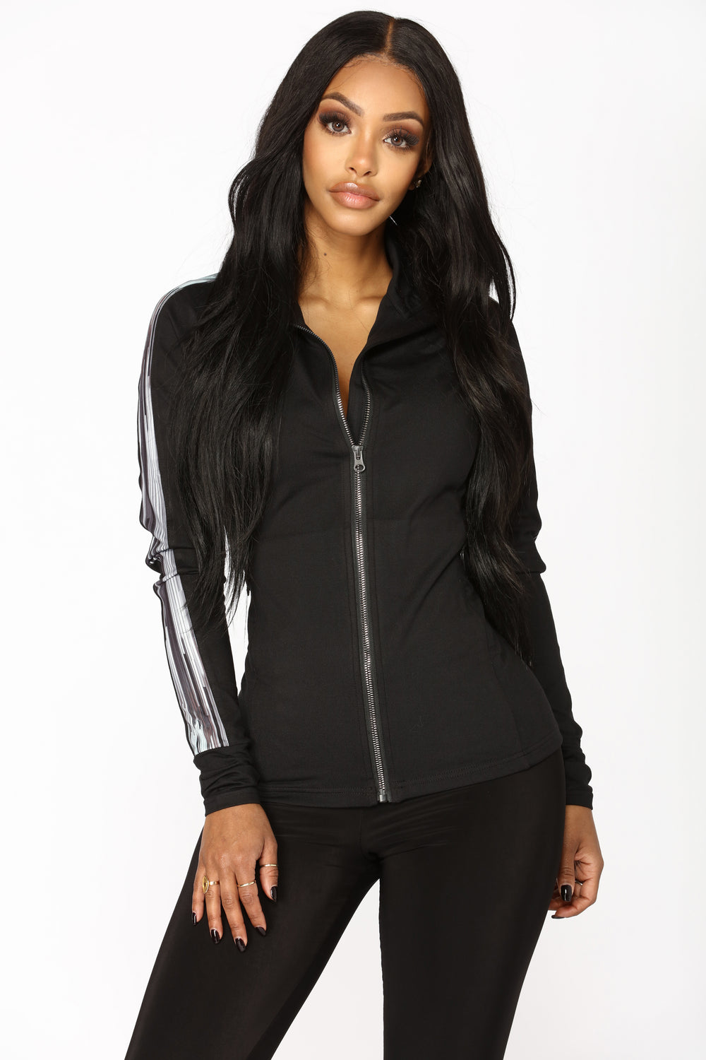 Night Work Out Active Jacket - Black