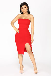 Brady Tube Dress - Red