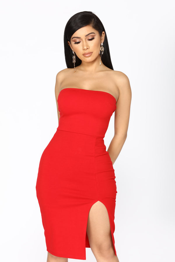 d77a66c3319 Brady Tube Dress - Red