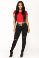 Robin Crop Top - Dark Red