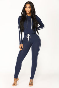 Tennis Time Long Sleeve Set - Navy