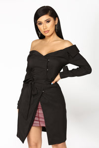 Trench Me Up Jacket - Black