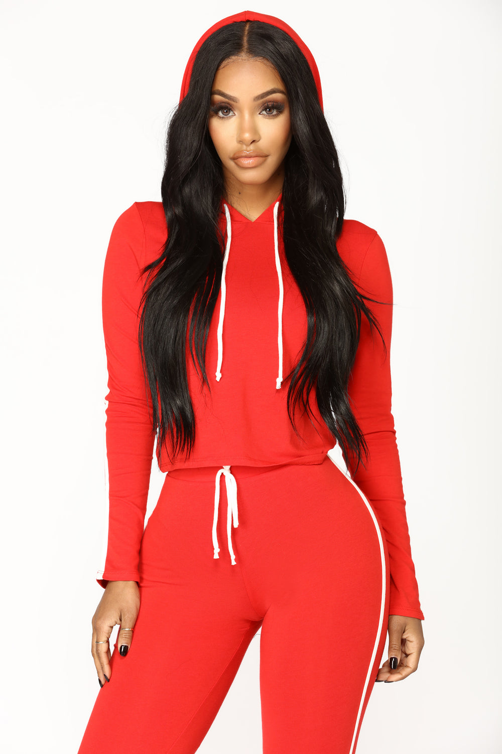 Tennis Time Long Sleeve Set - Red