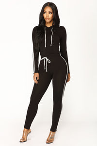 Tennis Time Long Sleeve Set - Black