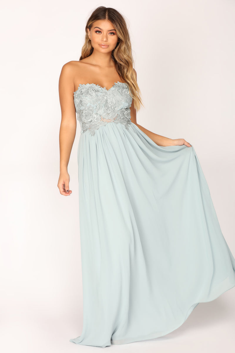 Ever After Lace Dress - Blue