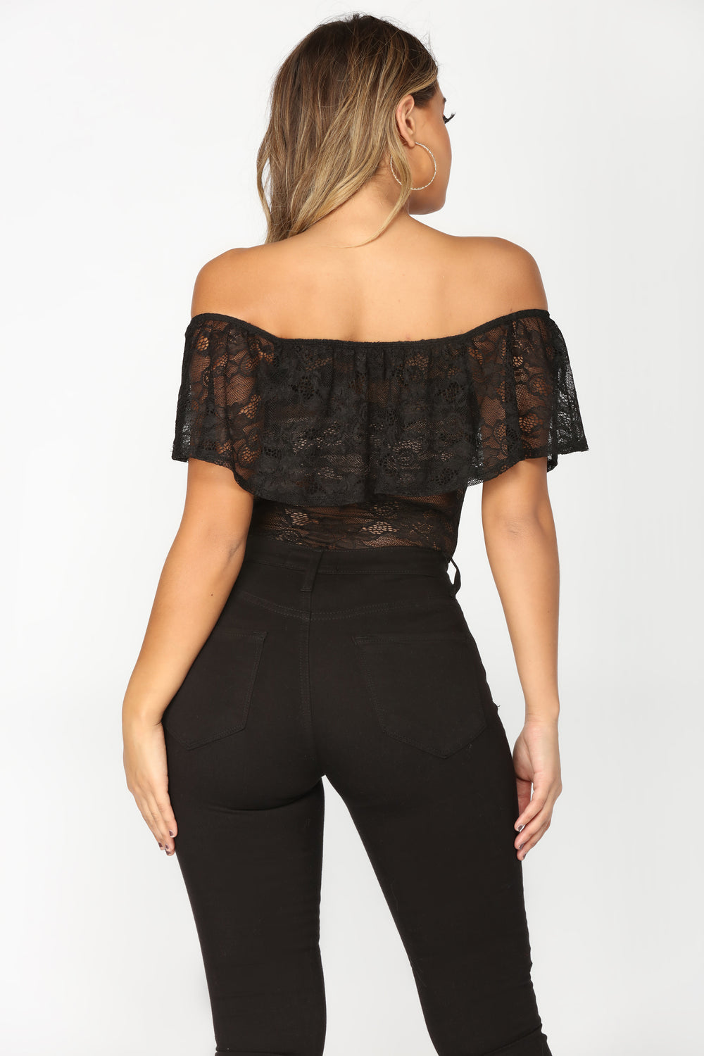 Let There Be Love Bodysuit - Black