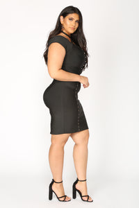 Pandora Bandage Dress - Black