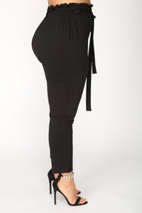 Finders Keepers Tie Waist Pants - Black