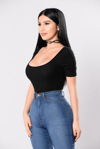 Not Like The Rest Bodysuit - Black Angle 6