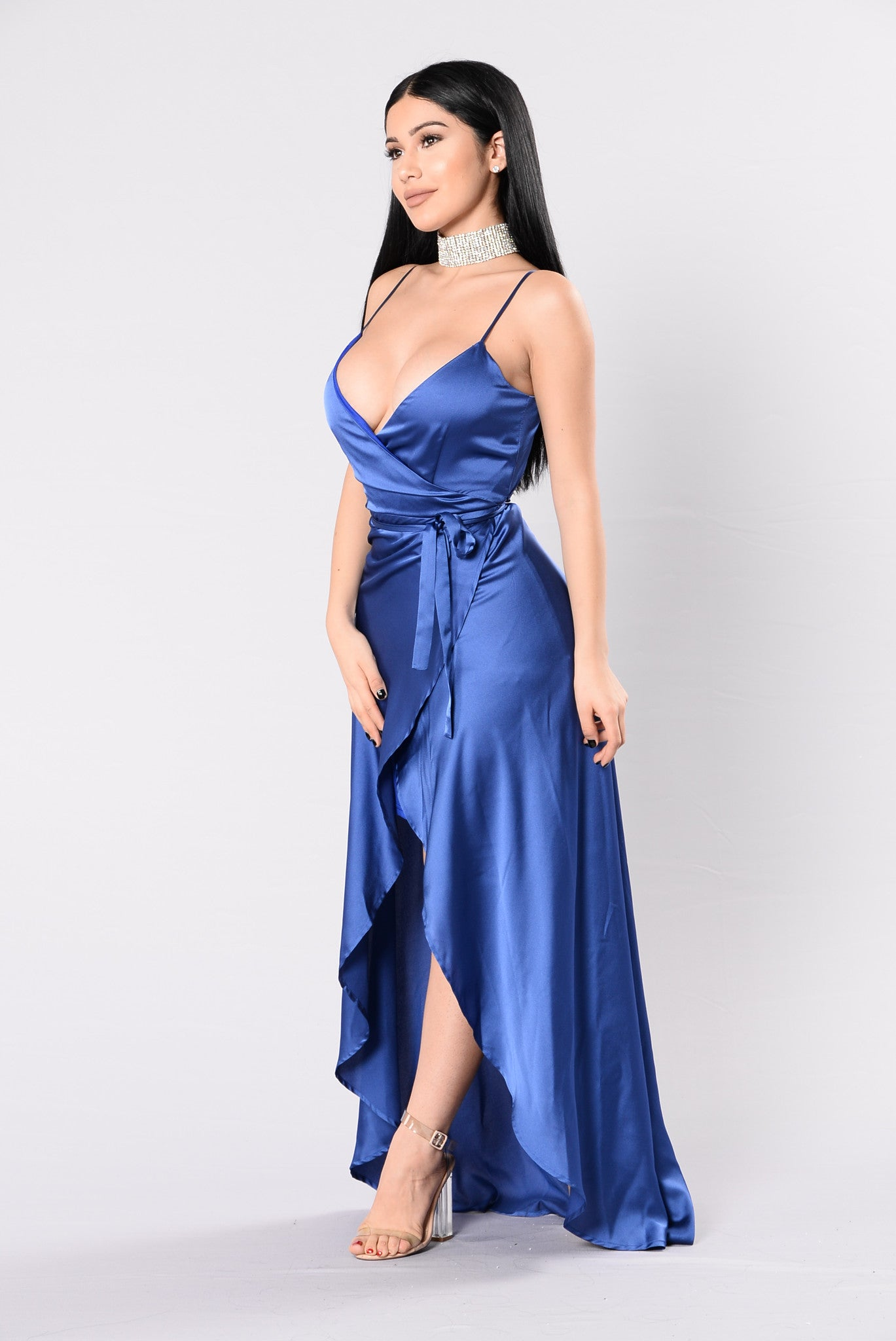 fantasy queen dress  midnight blue
