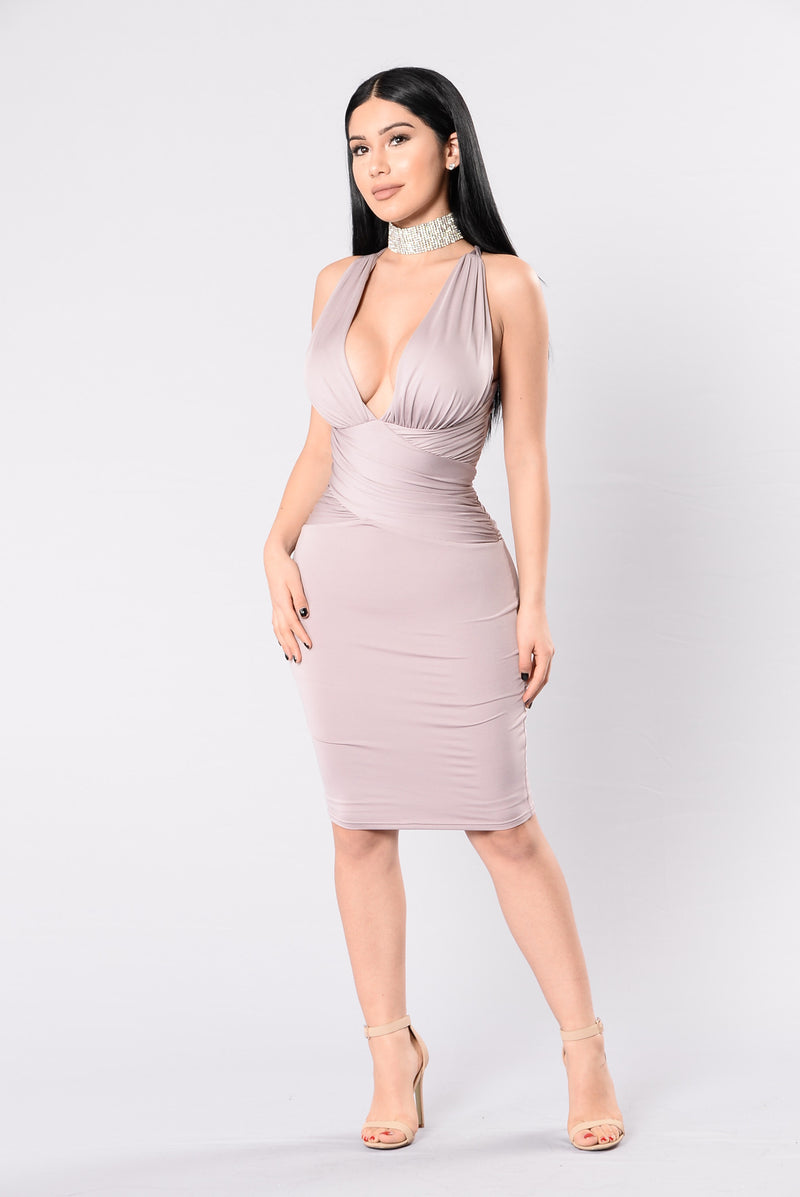 Adrienne Dress - Dusty Violet