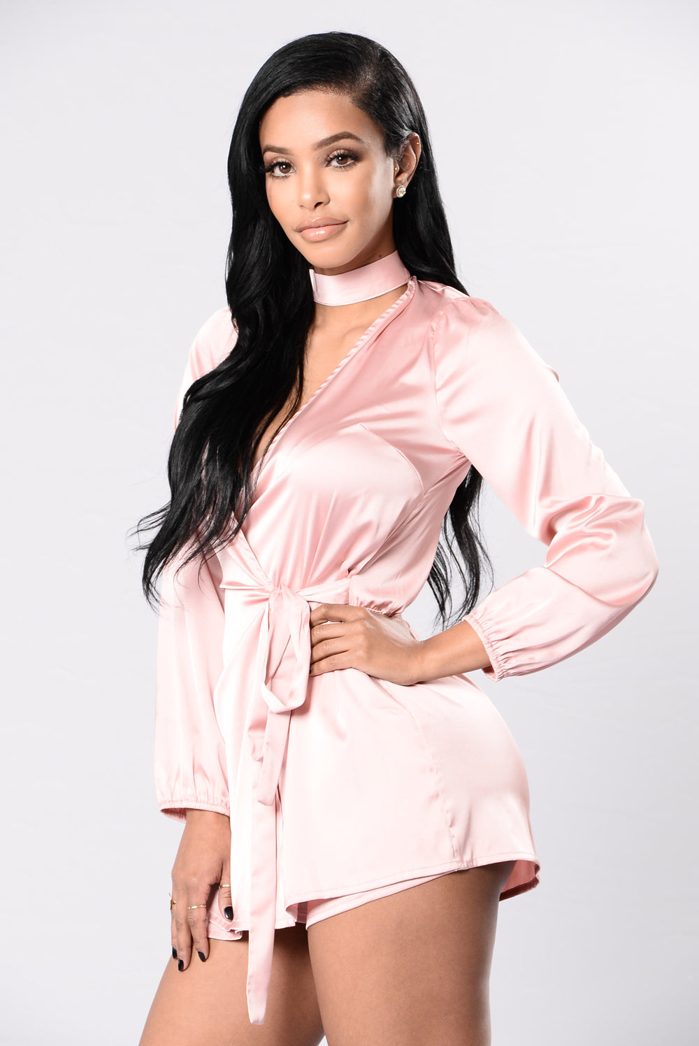 Left You Where I Met You Romper - Blush