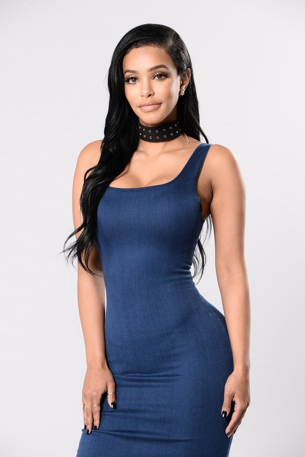 Sucka For Love Dress - Dark Wash