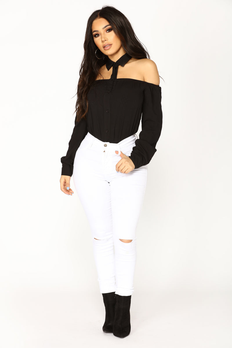 Dianna Off Shoulder Top - Black