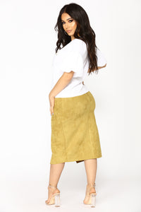 Cut Out Craze Skirt - Moss