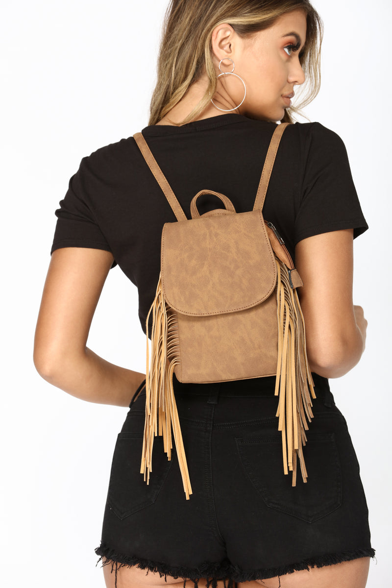Fringe Perfect Backpack - Brown