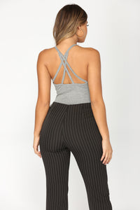 Run This Town Bodysuit - Heather Grey