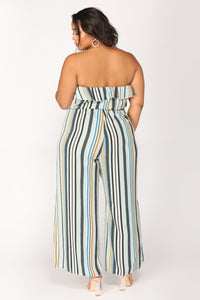 If You're Down Jumpsuit - Blue/Multi
