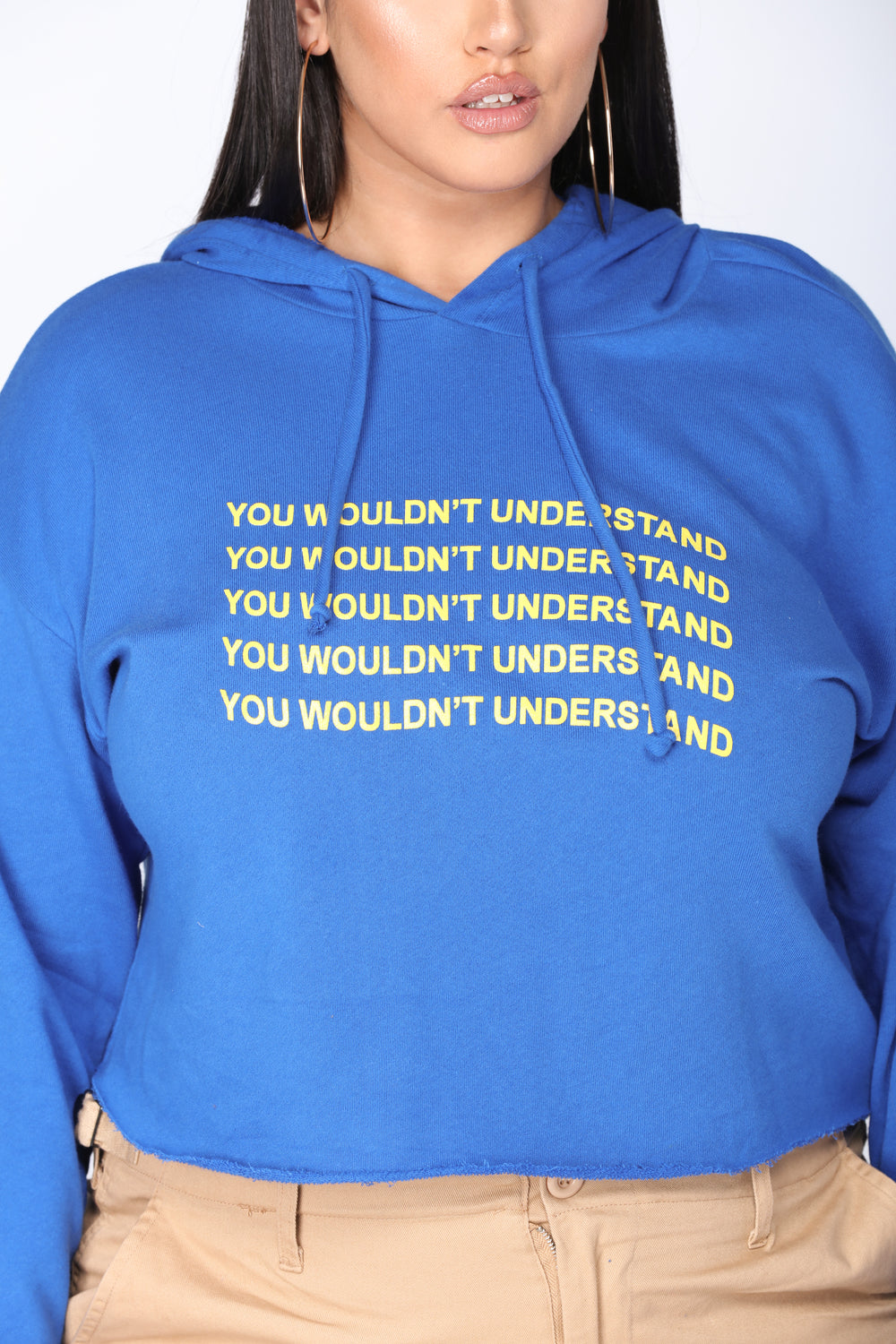 You Wouldn't Understand Long Sleeve Top - Royal/Yellow
