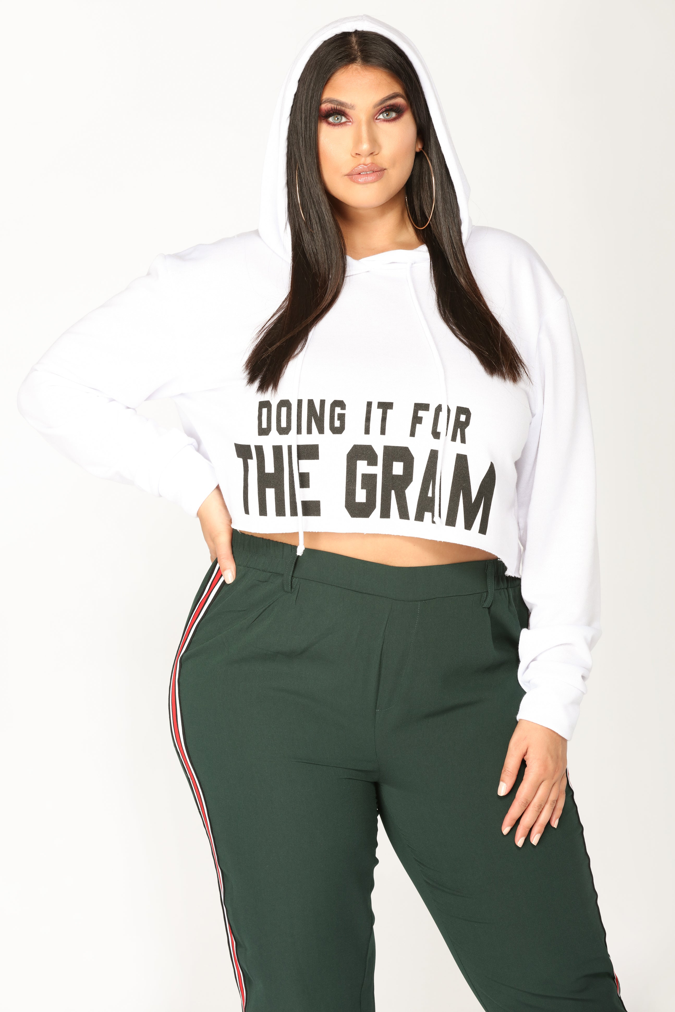 00bd3049bc Doing It For The Gram Hoodie - White