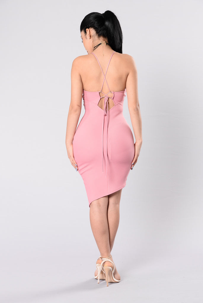 Soon As You See Me Dress - Dusty Pink