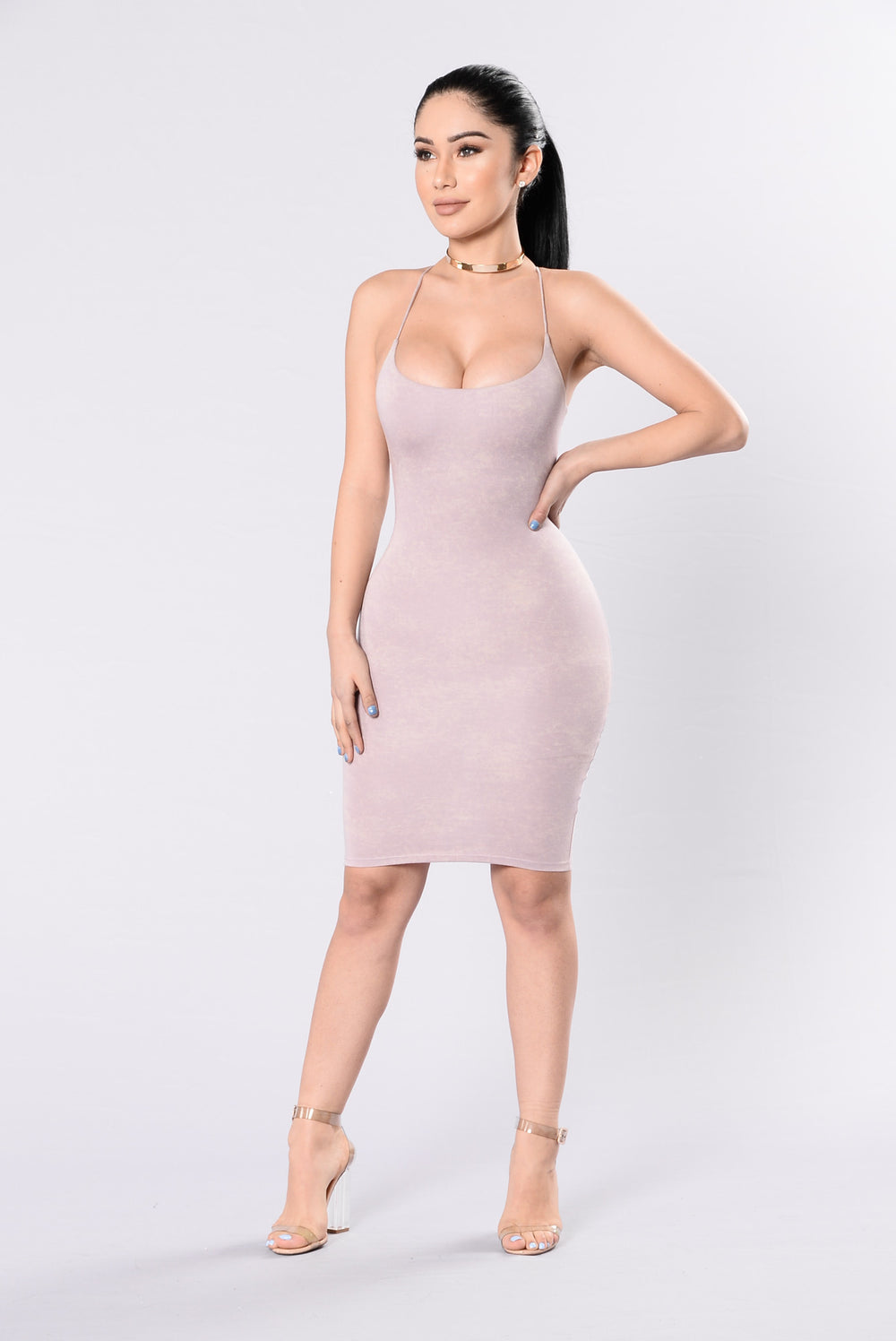 Walk My Way Dress - Mauve