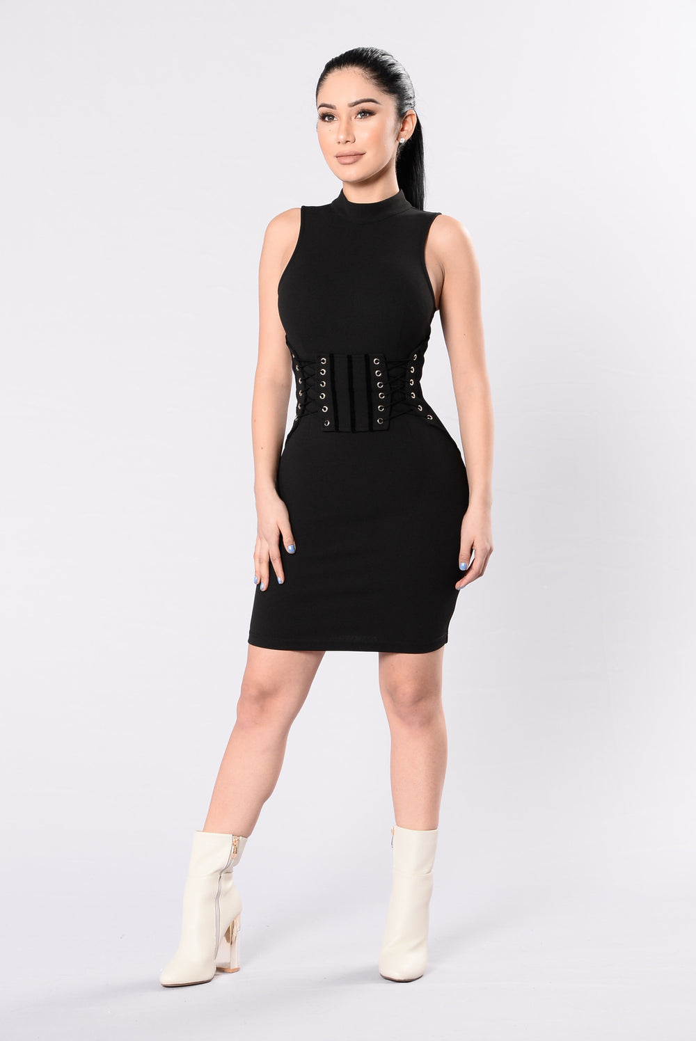 Set To Stun Dress - Black