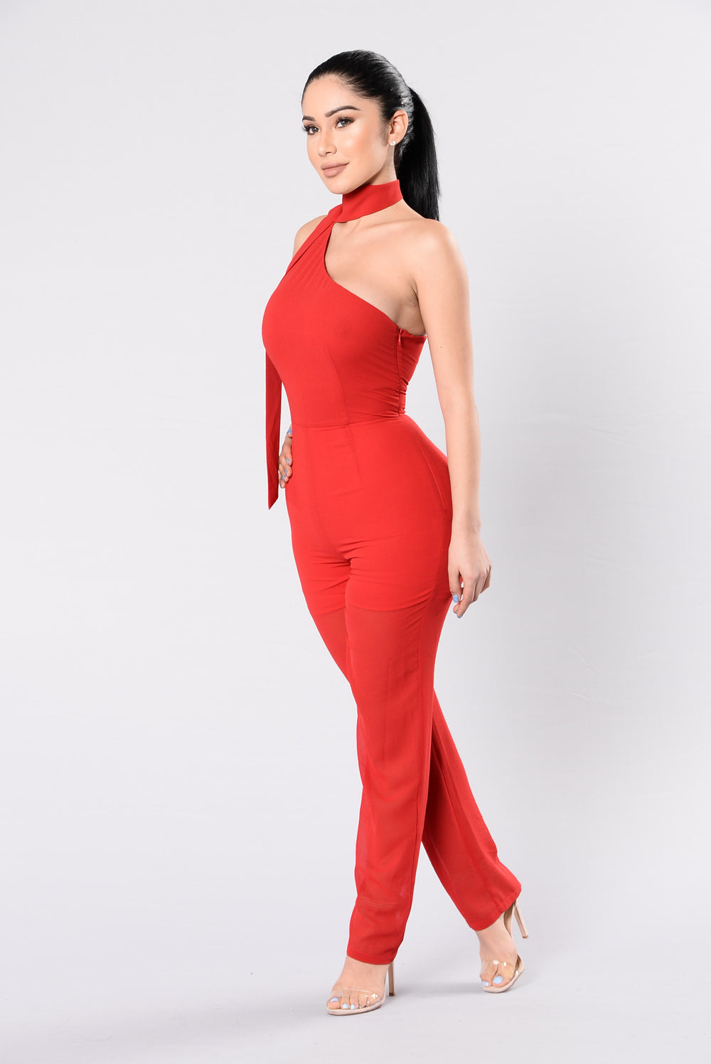 Just Can't Get Enough Jumpsuit - Red